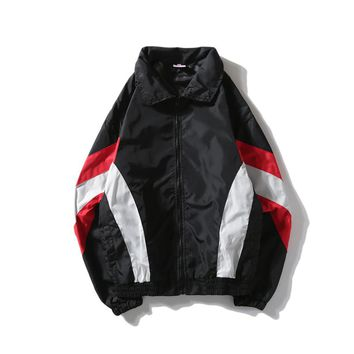 YouthCodes Stand Gothic Vintage Jackets Men Zipper Thick Windproof Raincoat Windbreaker Patchwork Splicing Coats Kanye West New