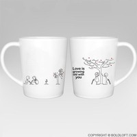 Grow Old with You™ Couple Coffee Mugs-His and Hers Couple Mug Set,Couples Matching Gift,Anniversary Gift,Wedding Anniversary Gift,Wedding Gift,Valentines Day Gift,Gifts for Him,Gifts for Her,Boyfriend,Girlfriend,Husband,Wife