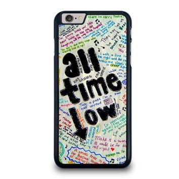 all time low colour iphone 6 6s plus case cover  number 1