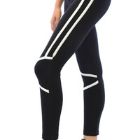Two Tone Lightweight Cotton Active Workout Yoga Pants