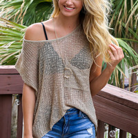 Willow Taupe Sweater Top