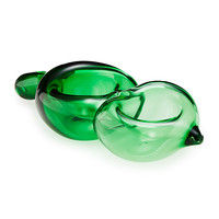 Pea Pod Sculptural Bowl | glass pea sculpture