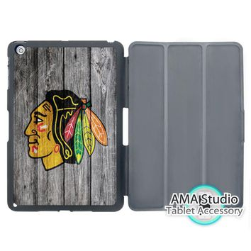 Chicago Blackhawks Hockey League Cover Case For Apple iPad Mini 1 2 3 4 Air Pro 9.7 10.5 12.9 2016 2017 a1822 New
