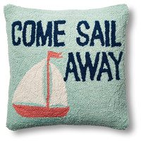 Come Sail Away 16x16 Wool Pillow