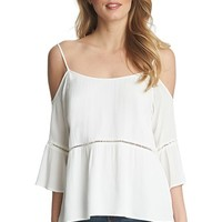 Women's 1.STATE Cold Shoulder Peasant Top
