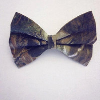 Camouflage Print Hair Bow by DolledAndDaring on Etsy
