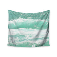 "Monika Strigel ""Maui Waves"" Teal Green Wall Tapestry"