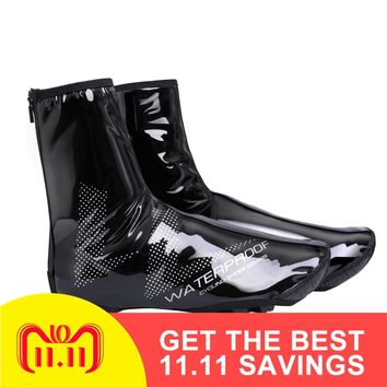 2018 New Waterproof Reflective Cycling Shoe Covers Thermal Windproof Bicycle Overshoes MTB Road Bike Rainproof Sneaker Cover