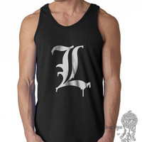 L Melting drips print on Male tank