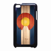 Wood Colorado State Flag for iPod Touch 4th case *RA*