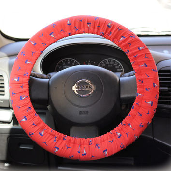 Steering Wheel Cover Bow Wheel Car Accessories Lilly Heated For Girl Interior Aztec Monogram Tribal Camo Cheetah Sterling Chevron Anchor Red