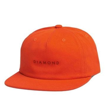 ONETOW Diamond Supply Co. - Leeway Unconstructed Snapback - Burnt Orange