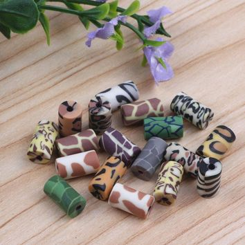 6x11mm Polymer Clay Beads Mix Design Fimo Loose Spacer Beads For Necklace Bracelet DIY Fashion Jewelry Findings Making 200pcs