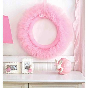 Mud Pie Pink Tulle Wreath