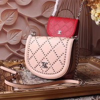 CHANEL WOMEN'S 2018 HOT STYLE LEATHER INCLINED SHOULDER BAG