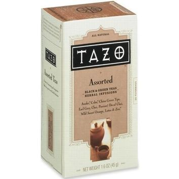 Starbucks Coffee Tazo Tea, 24-PK, Assorted (Black-Green) - CASE OF 4