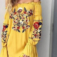 Jolene Embroidered Floral Dress