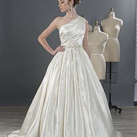 Alfred Angelo 2490 One Shoulder Ball Gown Wedding Dress