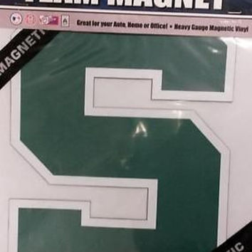 "NCAA  Licensed Michigan State Spartans 12"" Car Magnet"