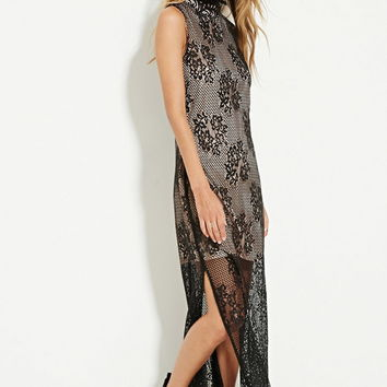 The Allflower Floral Lace Maxi Dress