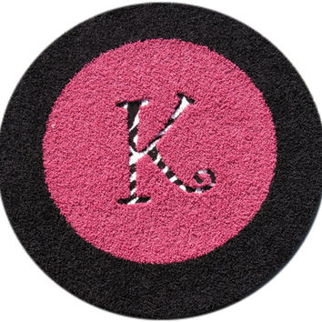 Custom Personalized Border Round Rug