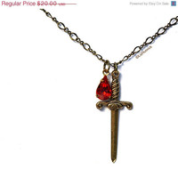 Athena Necklace Warrior Sword Greek Mythology Jewelry Goddess of Wisdom