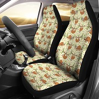 Floral Sloth Car Seat Covers