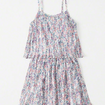 girls pleated chiffon tiered dress | girls clearance | Abercrombie.com