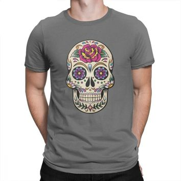 Day Of The Dead T Shirt Sugar Skull With Rose