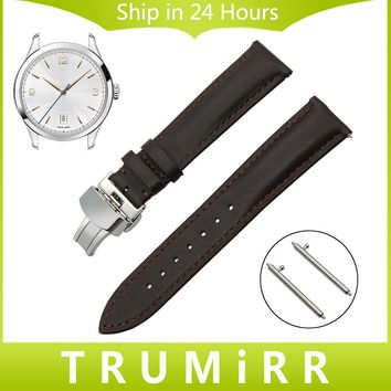 Quick Release Watch Band 1st Layer Genuine Leather Strap for Montblanc Men Women Butterfly Buckle Wrist Bracelet 18mm 20mm 22mm