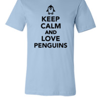 Keep calm and love Penguin - Unisex T-shirt
