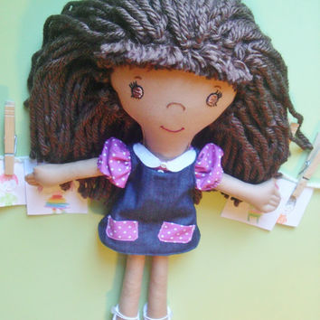 Waldorf Doll Custom, Ethnic Doll for Girl, Christmas Present, Rag Dolls, Plush Dolls, Customized Gifts