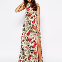 Somedays Lovin Bella Floral Print Maxi Dress With Thigh Split