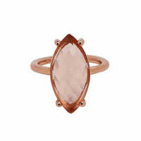 Marquise Bezel Ring, Rose Gold