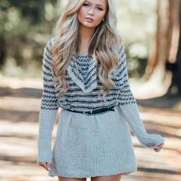 Double Dare Off-Shoulder Sweater [ TWO COLORS ] .
