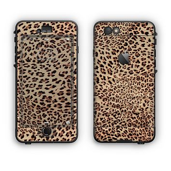 The Brown Vector Leopard Print Apple iPhone 6 Plus LifeProof Nuud Case Skin Set