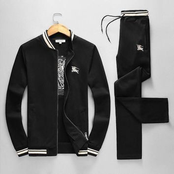 ONETOW Boys & Men Burberry Cardigan Jacket Coat Pants Trousers Set Two-Piece Sportswear