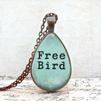 Free Bird Necklace: Teardrop Style