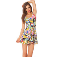 Cute Cartoon Pattern Dress