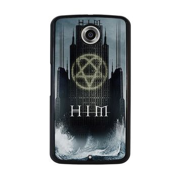 HIM BAND HEARTAGRAM Nexus 6 Case Cover
