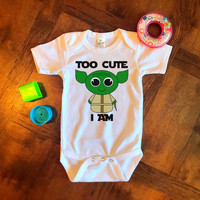 Too Cute I Am Yoda Star Wars Onesuit