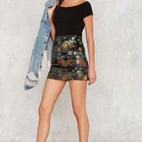 Nasty Gal In Season Jacquard Skirt