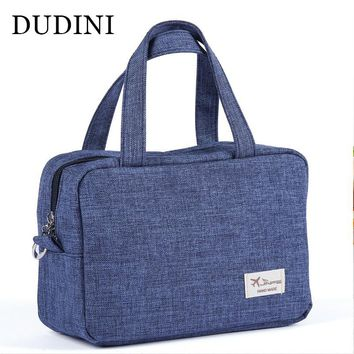DUDINI Portable Large Cosmetic Bag Makeup Organizer Box Beauty Vanity Cosmetic Case Box Travel Wash Makeup Storage Cosmetic Case