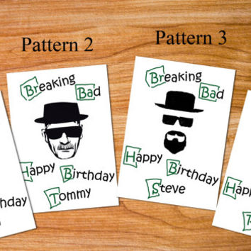 breaking bad card, funny birthday card, greeting card breaking bad, Heisenberg hat, Walter White, friend birthday card, paper goods