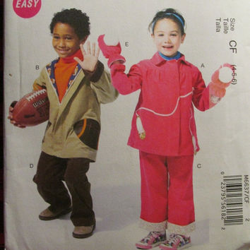 SALE Uncut McCall's Sewing Pattern, 6637! 4-5-6 Kids/Children's/Toddlers/Unisex/Girls/Boys Jackets/Pants/Mittens/Winter Clothing/Sweats Flee