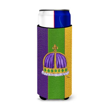 King's Crown Mardi Gras Ultra Beverage Insulators for slim cans 8371MUK