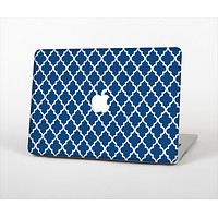 The Navy & White Seamless Morocan Pattern Skin Set for the Apple MacBook Air 11""