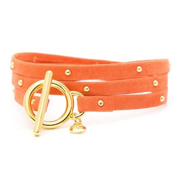 Graham Bloom Leather Studded  Wrap  - Jewelry - New Arrivals | gorjana & griffin