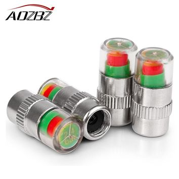 4PCS Air Warning Alert Tire Valve Pressure Cap