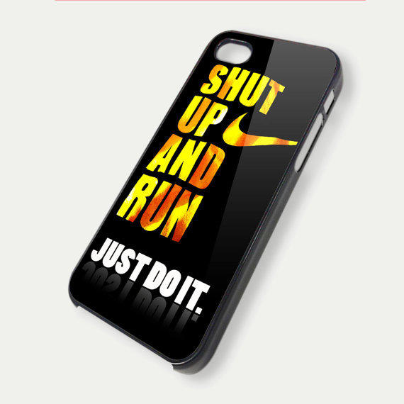 jus do it shut up and run TM00 iPhone 5 Case  iPhone by DeluxeCase